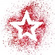 Blank Red Star drawing air color pen — Stock Photo