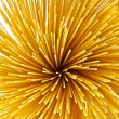 Uncooked pasta spaghetti macaroni, Top view — Stock Photo
