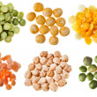Collection of peas - Stock Photo