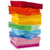 Serving colored paper napkins — Stock Photo