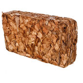 One Block of Coconut Coir Husk Fiber Chips — Stock Photo