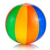 白い背景上に分離されてカラフルなビーチボール — ストック写真
