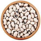 Black eyed peas beans dish top view close up isolated on a white background — Stock Photo