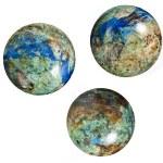Stone globes balls isolated on white background — Stock Photo #31700765