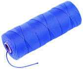 Carrete azul ovillo de cuerda de hilo aislado sobre fondo blanco — Foto de Stock
