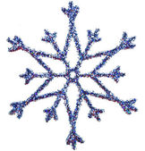 Ornamental Snowflake shape glittering decoration with clipping path included — Stock Photo