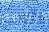 синий клубок бечевки поверхности заделывают макрос текстура фон — Стоковое фото