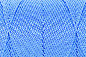 Blue Clew of twine surface close up macro texture background — Stock Photo