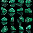 Collection set of malachite mineral stone close up — Stock Photo