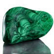 Polished malachite — ストック写真