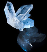 Lovely terminated white rock crystal — Stock Photo