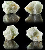Collection set of Aquamarine in rock stone — Stock Photo