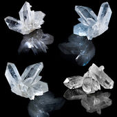 Collection of white natural rock crystal — Stock Photo