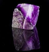 Big Fluorite Crystal Purple — Stock Photo