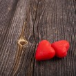 Two Red Heart Candies  — Foto de Stock