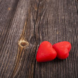 Two Red Heart Candies  — Stockfoto