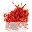 Moroccan saffron threads in bowl box — Stock Photo