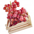 Fresh ripe grapes in a wooden crate box  — Stock Photo