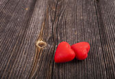 Two Red Heart Candies — Stock Photo