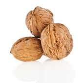 Walnut isolated on white background — Stock Photo