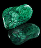 Malachite mineral stone close up — Stock Photo