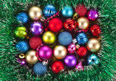 Christmas background with colorful balls — Stock Photo