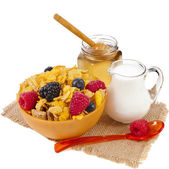 Diet weight loss breakfast concept, in table — Stock Photo