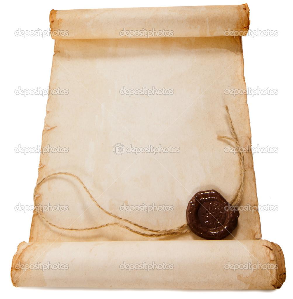 Scroll paper template