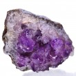 Beautiful amethyst druse close up isolated on white background - semiprecious gem used for jewels — Stok fotoğraf