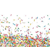 Border frame of colorful candy sprinkles isolated on white background card for text — Stock Photo
