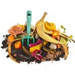 Compost pile of kitchen scraps — Stock Photo #41479945