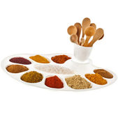 Collection of various color spices — Stock Photo