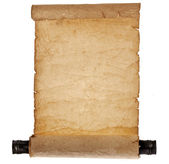 Ancient antique empty scroll — Stock Photo