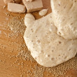 Rising Yeast Dough in bowl — Stock Photo #41480679