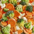 Mixed Frozen various vegetables — Stock Photo