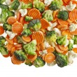Mixed Frozen various vegetables — 图库照片