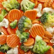 Mixed Frozen various vegetables — Stock Photo