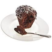 Chocolate Cupcake Muffin in plate — Stock Photo