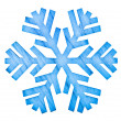 Stock Photo: Snowflake shape decoration