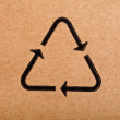Recycling symbol for cardboard — 图库照片 #42051791