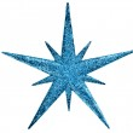 Christmas snowflake star — Stock Photo