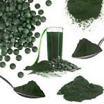 Spirulina algae powder glass drink — Stock Photo #42052263