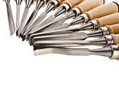 Set of curving chisels tools — Stock Photo