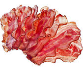Stack of Bacon Fried Crisp — Stock Photo