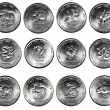 Set of 12 coins CHINESE HOROSCOPE — Stock Photo