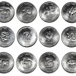 Set of 12 coins CHINESE HOROSCOPE — Stock Photo #44481549
