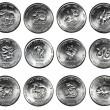 Set of 12 coins CHINESE HOROSCOPE — Stock Photo