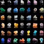 Collection set of semi-precious gemstones — Stock Photo #44481659