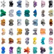 Collection set of semi-precious gemstones stones and minerals — Foto Stock #44482309