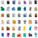 Collection set of semi-precious gemstones — Stock Photo #44482327